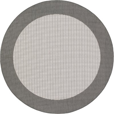Westlund Checkered Field Beige Indoor/Outdoor Area Rug Rug Size: Round 76