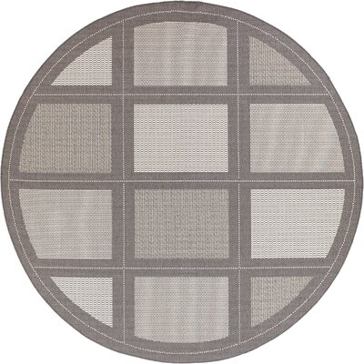 Westlund Gray Indoor/Outdoor Area Rug Rug Size: Round 76