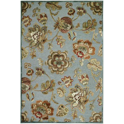 Daugherty Topaz Retro Poppy Rug Rug Size: 21 x 37