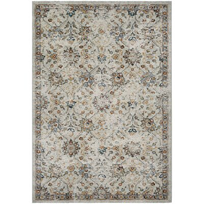 Dayton All Over Floral Oyster Spice Area Rug Rug Size: 53 x 76