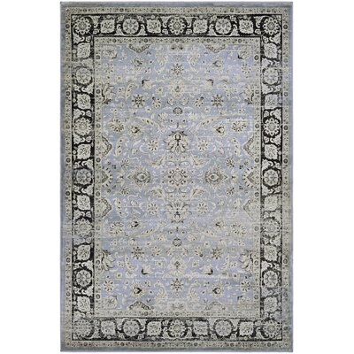 Connors Purple/Black Area Rug Rug Size: 92 x 125