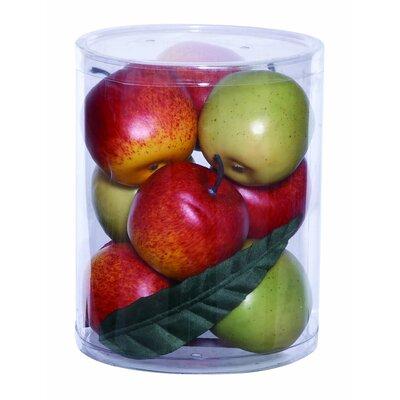 Large Red/Green Apples Sculpture Set