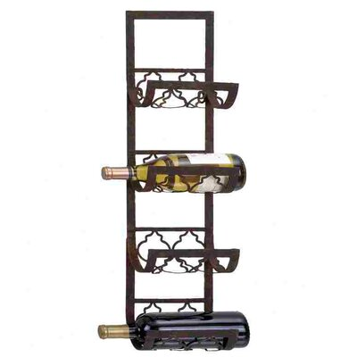 Alderbrook 4 Bottle Wall Mounted Wine Rack