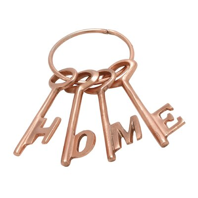 4 Piece Aluminum Decorative Key Set Color: Copper