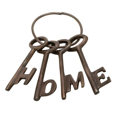 4 Piece Aluminum Decorative Key Set Color: Bronze