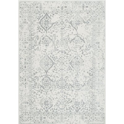 Dorothea Ivory/Gray Area Rug Rug Size: Rectangle 4 x 6