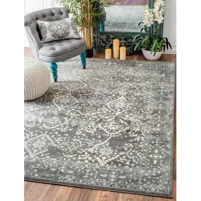 Dorothea Gray Area Rug Rug Size: Rectangle 4 x 6