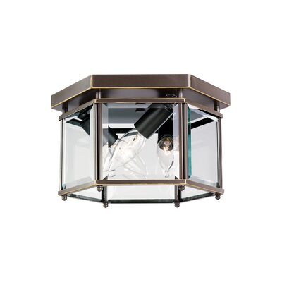 Pinecrest 3-Light Flush Mount Finish: Heirloom Bronze
