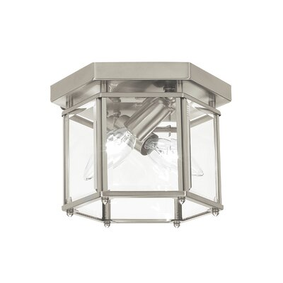 Pinecrest 2-Light Flush Mount Finish: Brushed Nickel