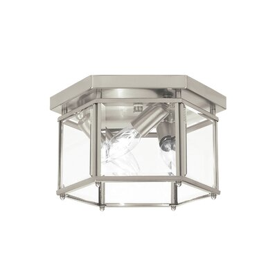 Pinecrest 3-Light Flush Mount Finish: Brushed Nickel