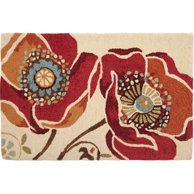 Dellroy Red Area Rug Rug Size: 110 x 210