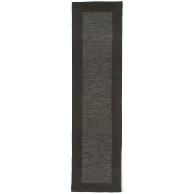 Dewsbury Charcoal Border Area Rug Rug Size: Runner 2 x 8