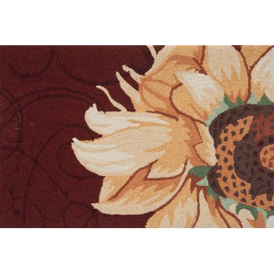Dellroy Radiant Sunflower Novelty Rug Rug Size: 110 x 210
