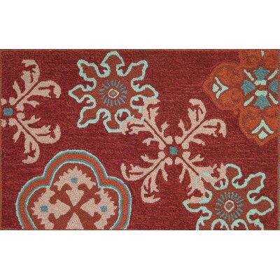 Dominick Crimson Stamps Rug