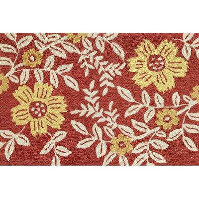 Dellroy Coral Floral Rug
