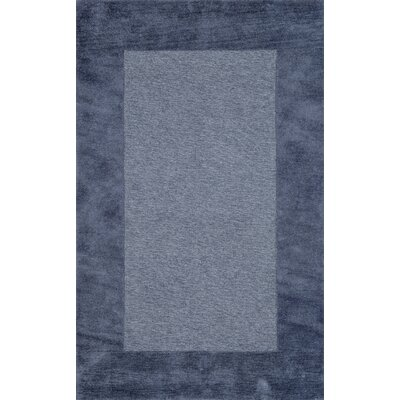 Dewsbury Blue Border Area Rug Rug Size: 2 x 3