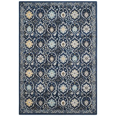 Pike Navy/Ivory Area Rug Rug Size: 8 x 10
