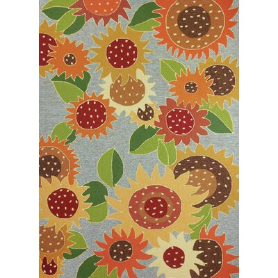 Dorothy Sunflower Impression Orange/Yellow Indoor/Outdoor Area Rug Rug Size: Rectangle 5 x 8
