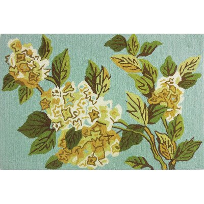 Dellroy Harriets Hydrangea Turquoise/Green Area Rug