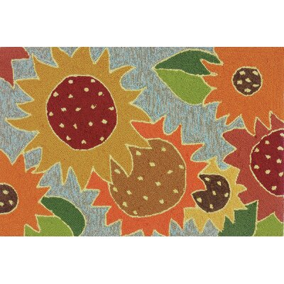 Dellroy Sunflower Impression Multi Indoor/Outdoor Area Rug