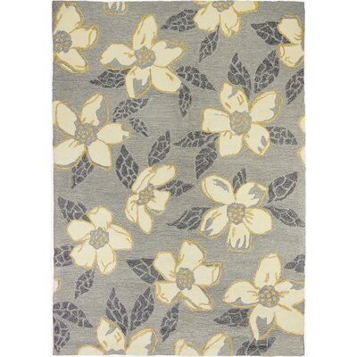 Dorothy Dogwood Light Gray Indoor/Outdoor Area Rug Rug Size: 3 x 5