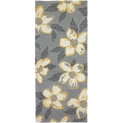 Dorothy Dogwood Light Gray Indoor/Outdoor Area Rug Rug Size: Runner 22 x 5