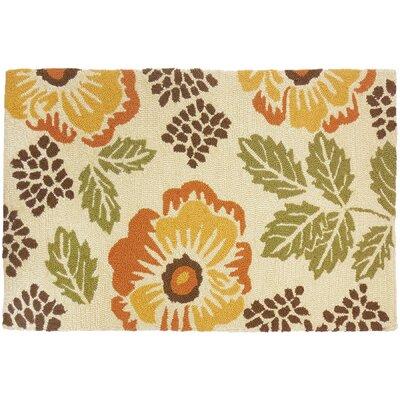 Dorothy Floral Beige Indoor/Outdoor Area Rug Rug Size: 110 x 210