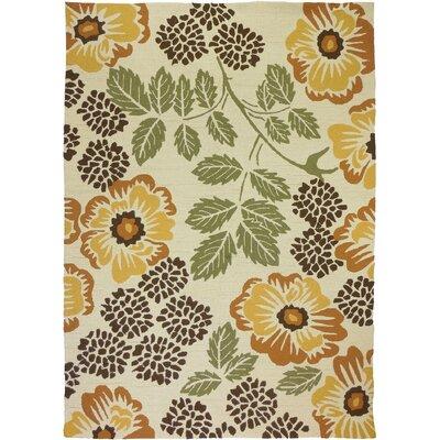 Dorothy Floral Beige Indoor/Outdoor Area Rug Rug Size: 5 x 7