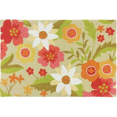 Dellroy Daisy Field Green Area Rug