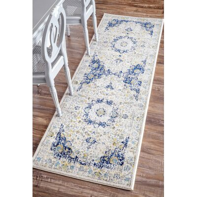 Doylestown Blue Area Rug by Charlton Home