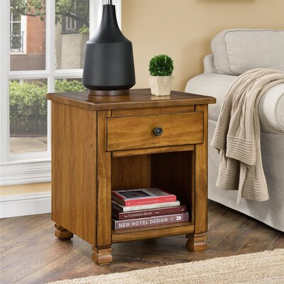 Gutierres End Table With Storage Color: Tuscany Oak