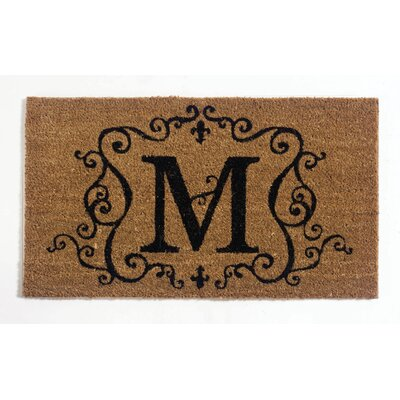Monmouth Doormat Letter: M