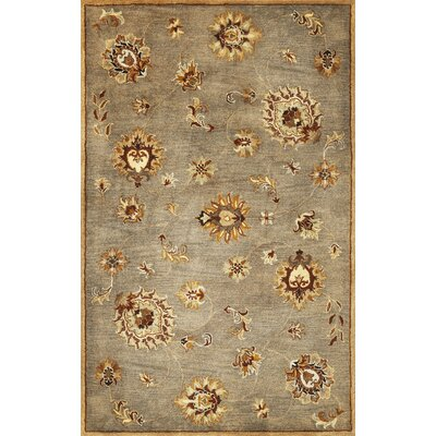 Blarwood Grey Allover Mahal Rug Rug Size: Round 56