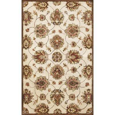 Blarwood Ivory Allover Kashan Rug Rug Size: Rectangle 33 x 53