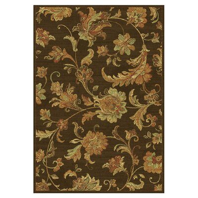 Bluff Canyon Mocha Aegean Scroll Area Rug Rug Size: 710 x 112