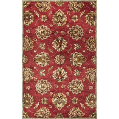 Blarwood Red Allover Kashan Rug Rug Size: Round 56