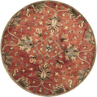 Blarwood Sienna Agra Hand-Woven Wool Area Rug Rug Size: Round 56