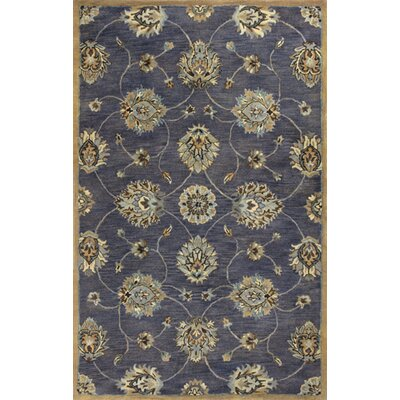 Blarwood Midnight Kashan Hand-Woven Wool Area Rug Rug Size: Rectangle 5 x 8