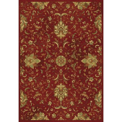 Bluff Canyon Red Mahal Area Rug Rug Size: 53 x 77