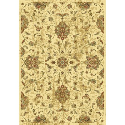 Bluff Canyon Ivory Mahal Area Rug Rug Size: 53 x 77