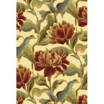 Bluff Canyon Ivory Bella Area Rug Rug Size: 5'3