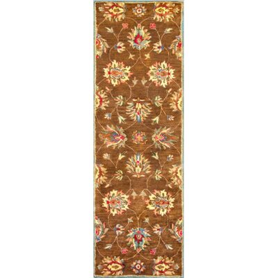 Blarwood Coffee Allover Kashan Rug Rug Size: 33 x 53