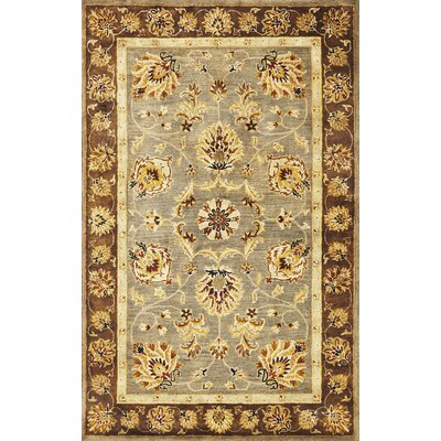 Blarwood Grey/Mocha Mahal Area Rug Rug Size: Rectangle 9 x 13