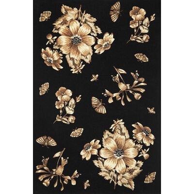 Blythewood Elegance Black Area Rug Rug Size: 8 x 106