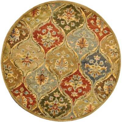Blarwood Panel Area Rug Rug Size: Round 56