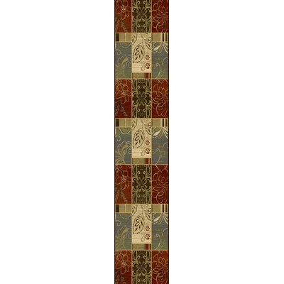 Attamore Red Panes Area Rug Rug Size: 53 x 78