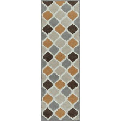 Boleynwood Ivory/Spice Arabesque Area Rug Rug Size: Runner 23 x 76