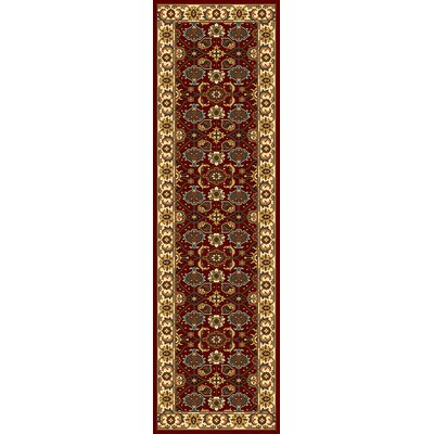 Vandergrift Red & Ivory Mahal Area Rug Rug Size: Runner 23 x 710