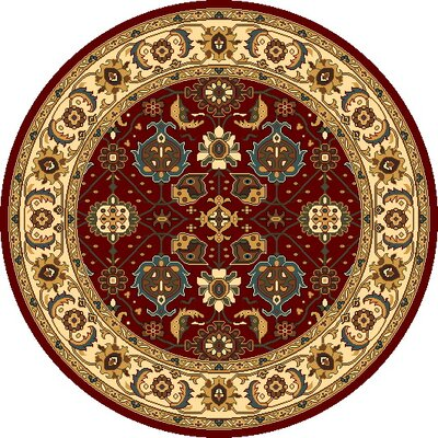 Vandergrift Red & Ivory Mahal Area Rug Rug Size: Rectangle 93 x 132