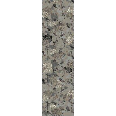 Calvert Silver Mirage Floral Area Rug Rug Size: 710 x 112